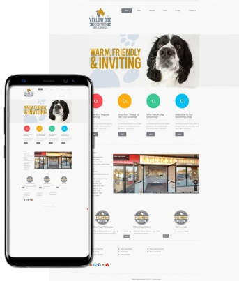 Yellow Dog Grooming Web Page